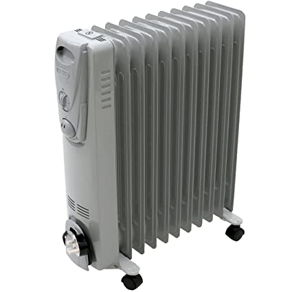 f6a764116c4 Oypla Electrical 2500W 11 Fin Portable Oil Filled Radiator Electric Heater