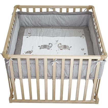 4 De cuadrada Parque Madera Jumbo Twins Incluye refuerzo Protector • Baby unidad para parque cuna