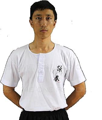 Joycorner® Wing Chun Tai Chi Kung Fu Camiseta Blanca Cosplay T-Shirt tee Estilo Oriental Chino Tradicional Versión Estampada de Letra *XS-3XL* (XS): Amazon.es: Zapatos y complementos