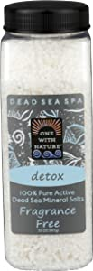 ONE WITH NATURE Bath Salt Detox Fragrance Free, 32 Ounce