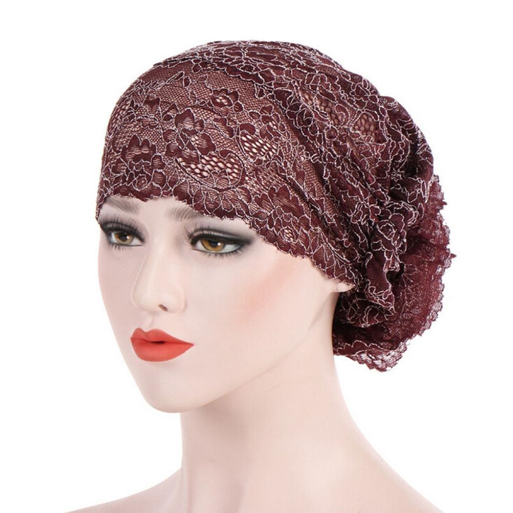 a708bda0b4b7 Mamum Chapeau Rétro, Chapeau Doux Turban Foulard Islamique Bonnet Chimio  Perte de Cheveux Cancer