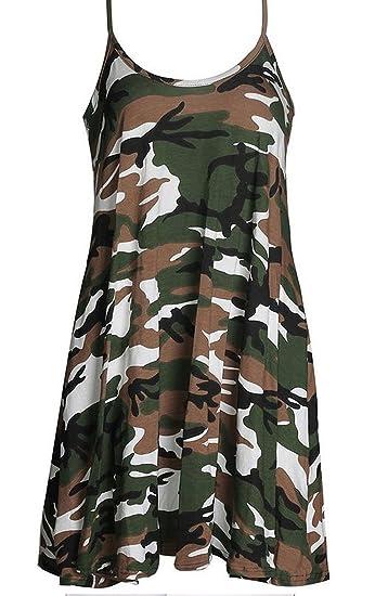 0f5f987b10909 S&S Women's Camouflage Printing Backless Sleeveless Spaghetti Strap Mini  Dress at Amazon Women's Clothing store: