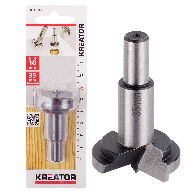 Kreator 03013001 Mèche bois pour charnière encastrée Ø 25 mm