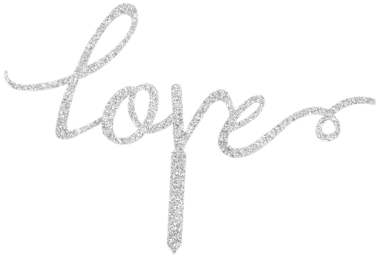 Unik Occasions ''Love Acrylic Wedding Cake Topper, Silver Glitter