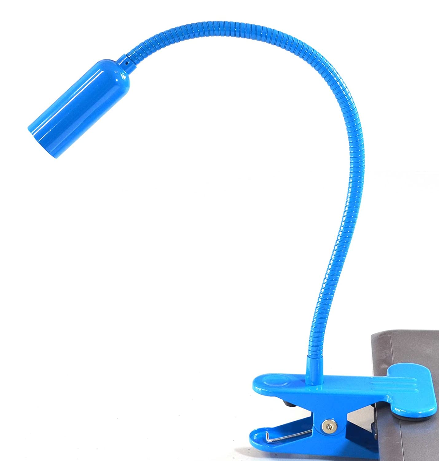 Easy Home Blue Swan Neck Flexible Daylight LED Spot Clamp Clip Lamp Mains Powered Aldi