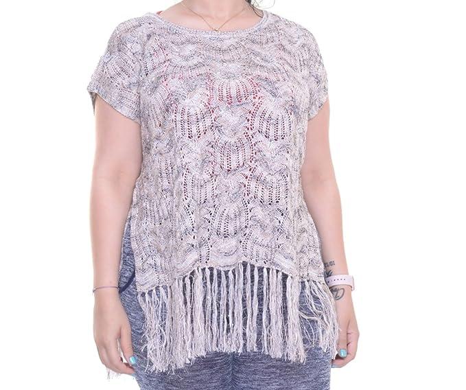 dac44c3c2cb58 INC International Concepts Fringe Metallic Sweater at Amazon Women s  Clothing store