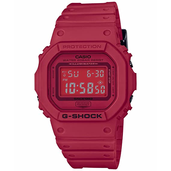 Casio G-Shock 35 Aniversario rojo Out dw5635 C-4 Digital reloj: Amazon.es: Relojes