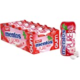 Mentos Pure Fresh Chewing Gum, Strawberry, Sugar Free, 10 Pocket Bottles, 10 x 30 g, Strawberry