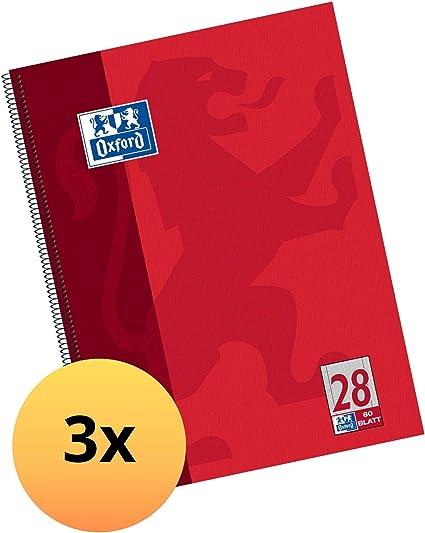confezione da 20 Quaderno A4/28/Lines 32/pagine quadretti 5/mm con margine