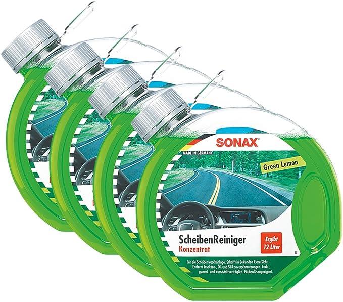 Sonax 4x 03864000 Scheibenreiniger Konzentrat Green Lemon 3l Auto