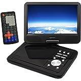 ONEST 【国内ブランド】 ポータブル DVD プレーヤー 10インチ モバイルバッテリー 外部USB充電対応 リージョンフリー CPRM 対応 車載キット付き(12V/24V対応) 3mケーブル PPDU-10BK