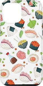 iPhone 12 Pro Max Japanese Food Pattern Christmas Gift Stocking Stuffer Teens Case
