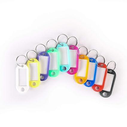 Gemeinsa Etiquetas Plásticas para Llaves Coloridas Llavero ...