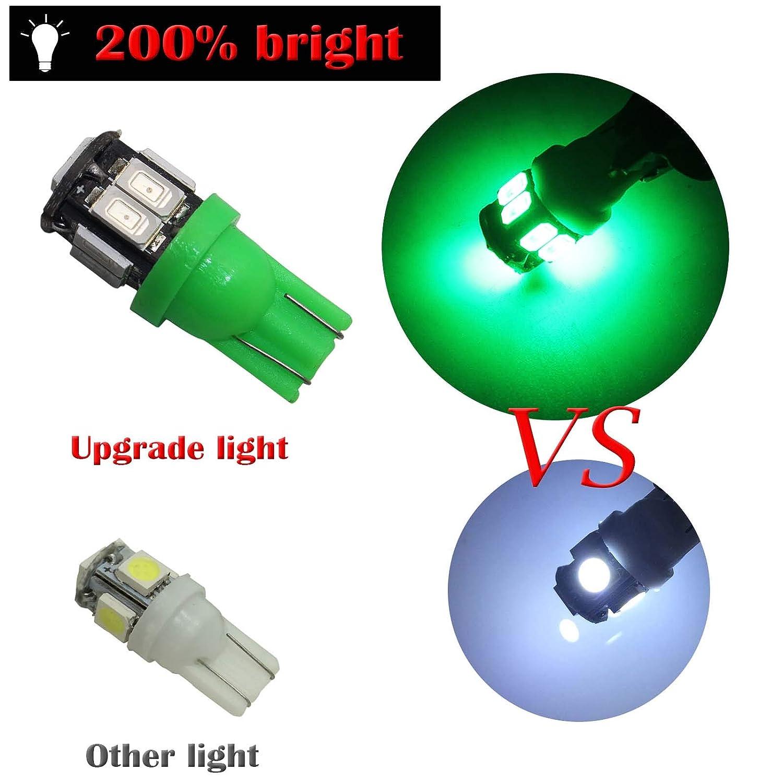 YaaGoo 194 Compact Small bulb License Plate Lights Lamp,T10 168 W5W,White,12pcs