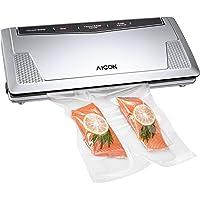 Aicok Vacuum Sealer Machine Automatic Vacuum Air Sealing System, Food Sealer Vacuum (Pulse Vacuum) Function for Dry or Moist Food and Sous Vide, 10 Bags