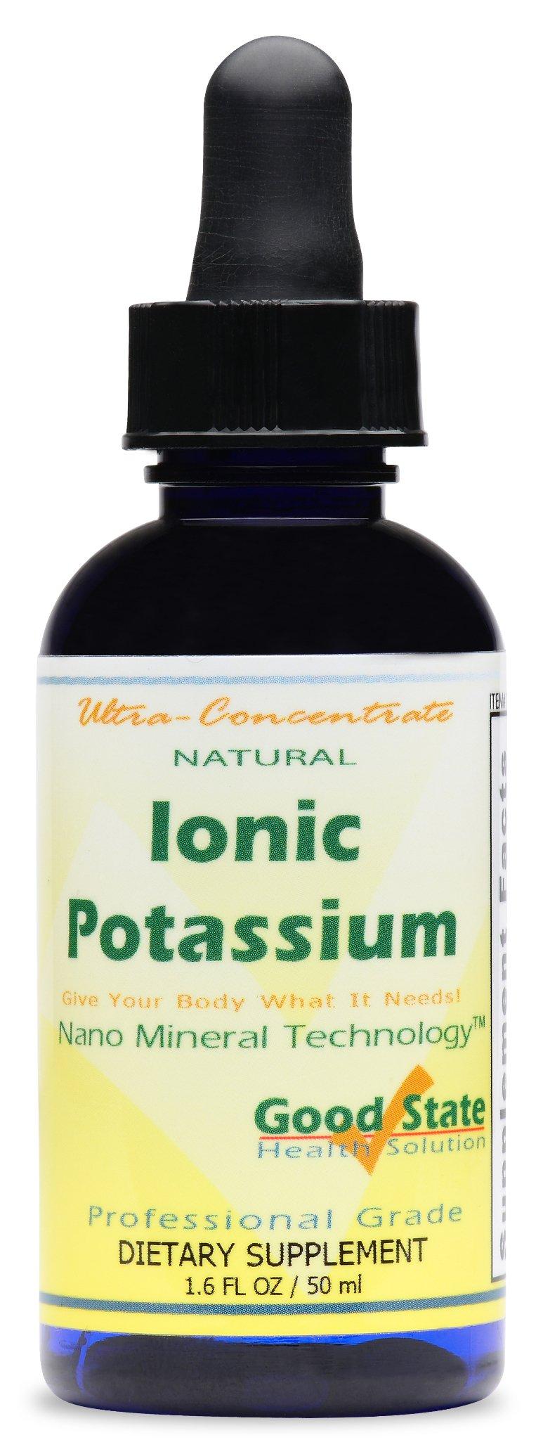 Good State Liquid Ionic Minerals - Potassium Ultra Concentrate - (10 drops equals 50 mg) (100 servings per bottle) Dietary Supplement 1.6 Fl.oz/50ml