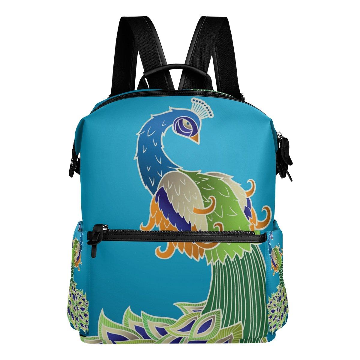 COOSUN Escuela colorido viaje del pavo real Mochila mochila de viaje colorido Multi 3ab24f