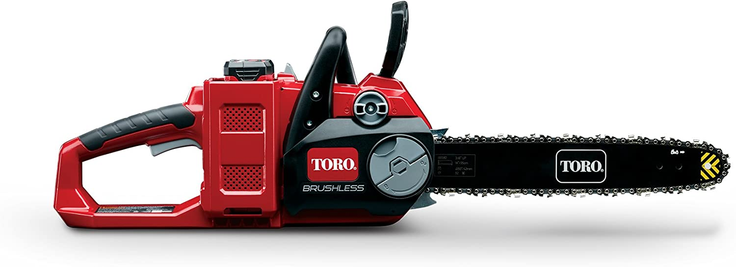 Toro PowerPlex 51880 Brushless 40V MAX Lithium Ion 14 Cordless Chainsaw, 2.5 Ah Battery Charger Included