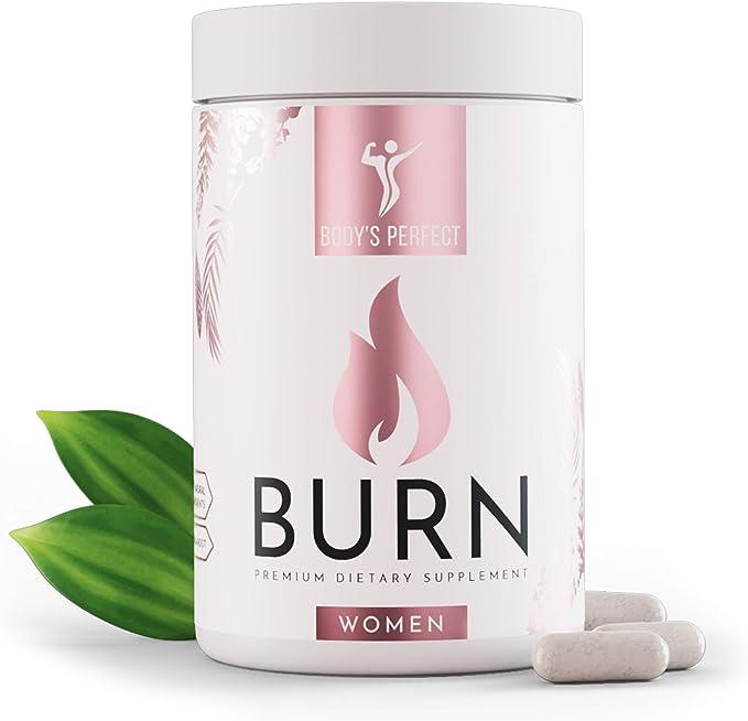 BURN Complejo de metabolismo desarrollado para mujeres, altas dosis, 19 ingredientes BASADOS EN ESTUDIOS, producto certificado de la marca BODYS PERFECT, 120 cápsulas: Amazon.es: Salud y cuidado personal