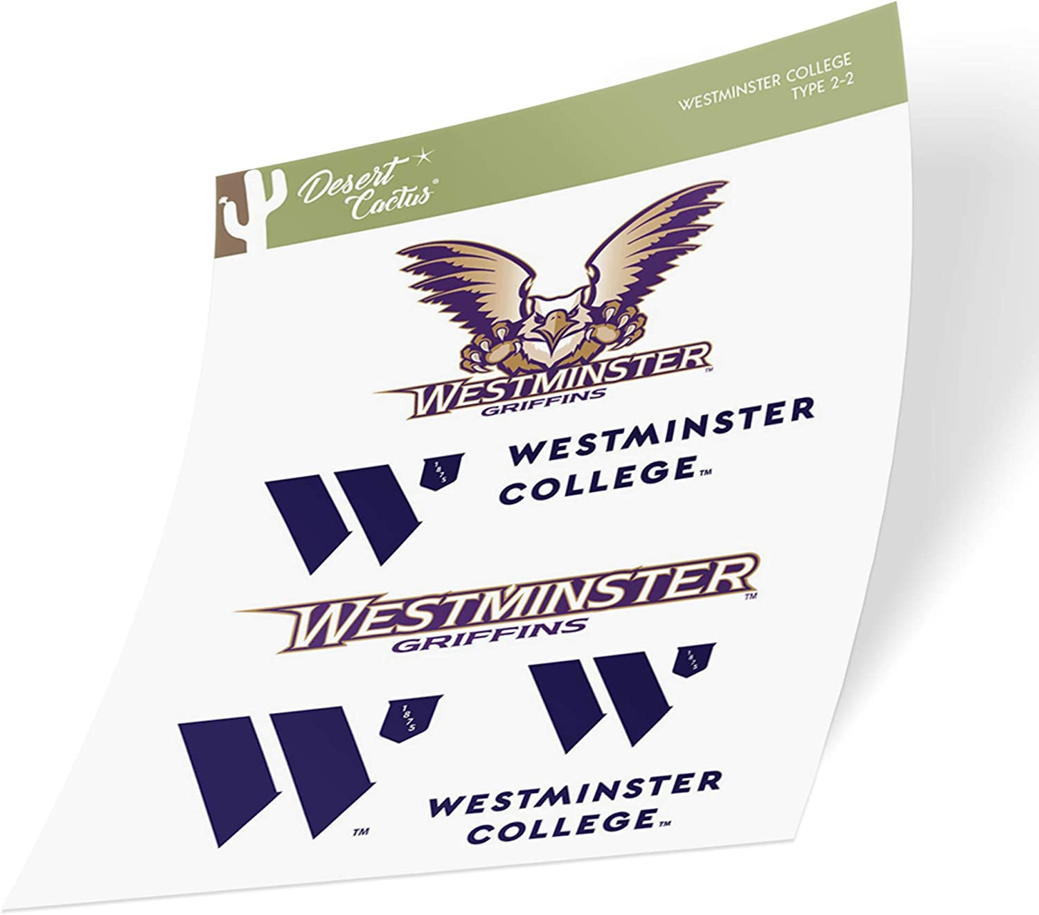 Westminster College Titans NCAA Sticker Vinyl Decal Laptop Water Bottle Car Scrapbook Type 2 Sheet