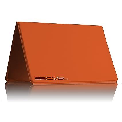 Cubierta Protectora Probada y patentada por TÜV Protección de Tarjeta para 6 Tarjetas CF+ Orange | Bloqueador RFID NFC | Blindaje de Campo magnético | ...