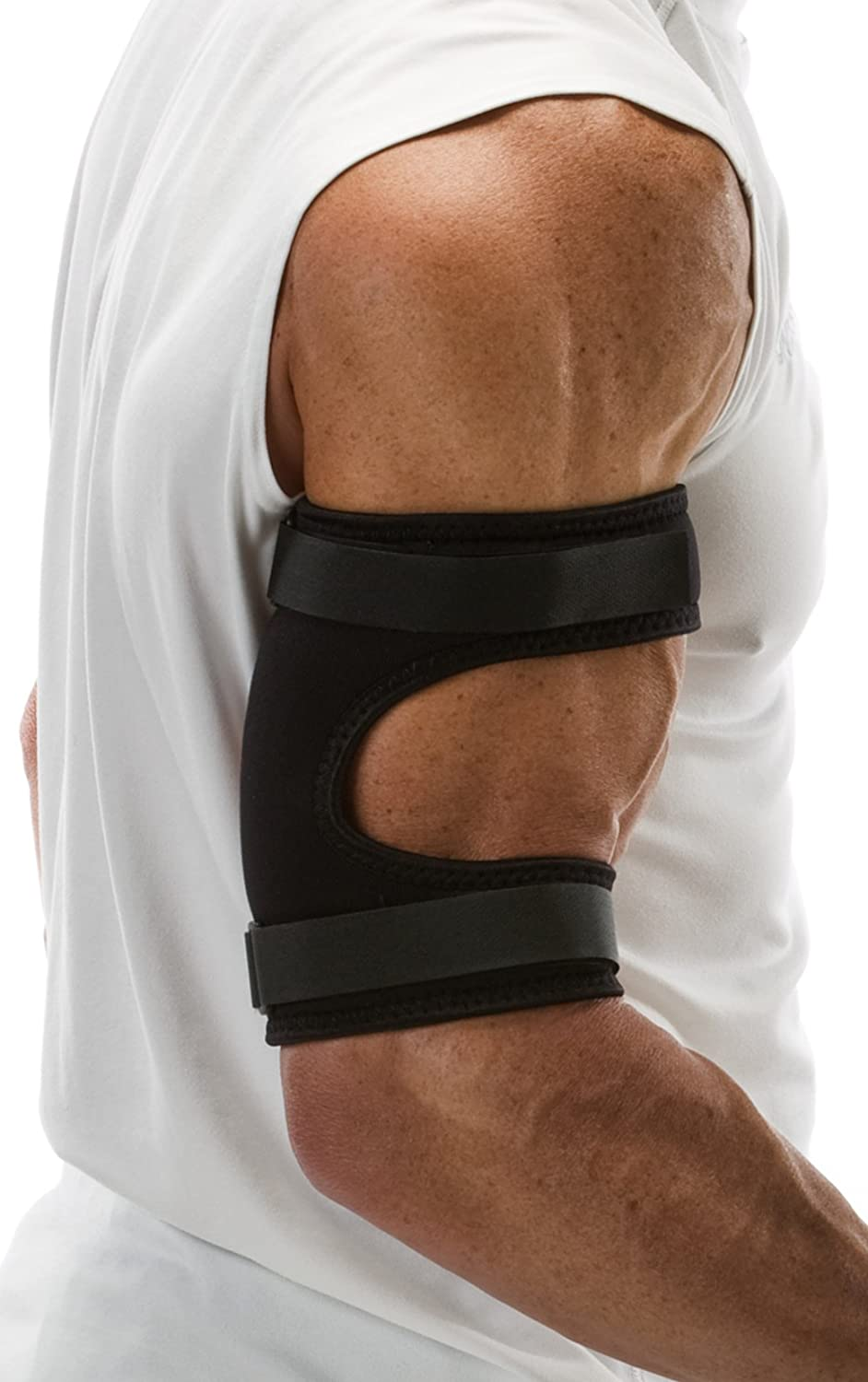 """Cho-Pat Bicep/Tricep Cuff - Eases and Prevents Bicep/Tricep Strain, Injury, and Pain (Bicep/Tricep Tendonitis, Pulling and Tearing of Tendons, Inflammation) - Large (11""""-12.5"""")"""