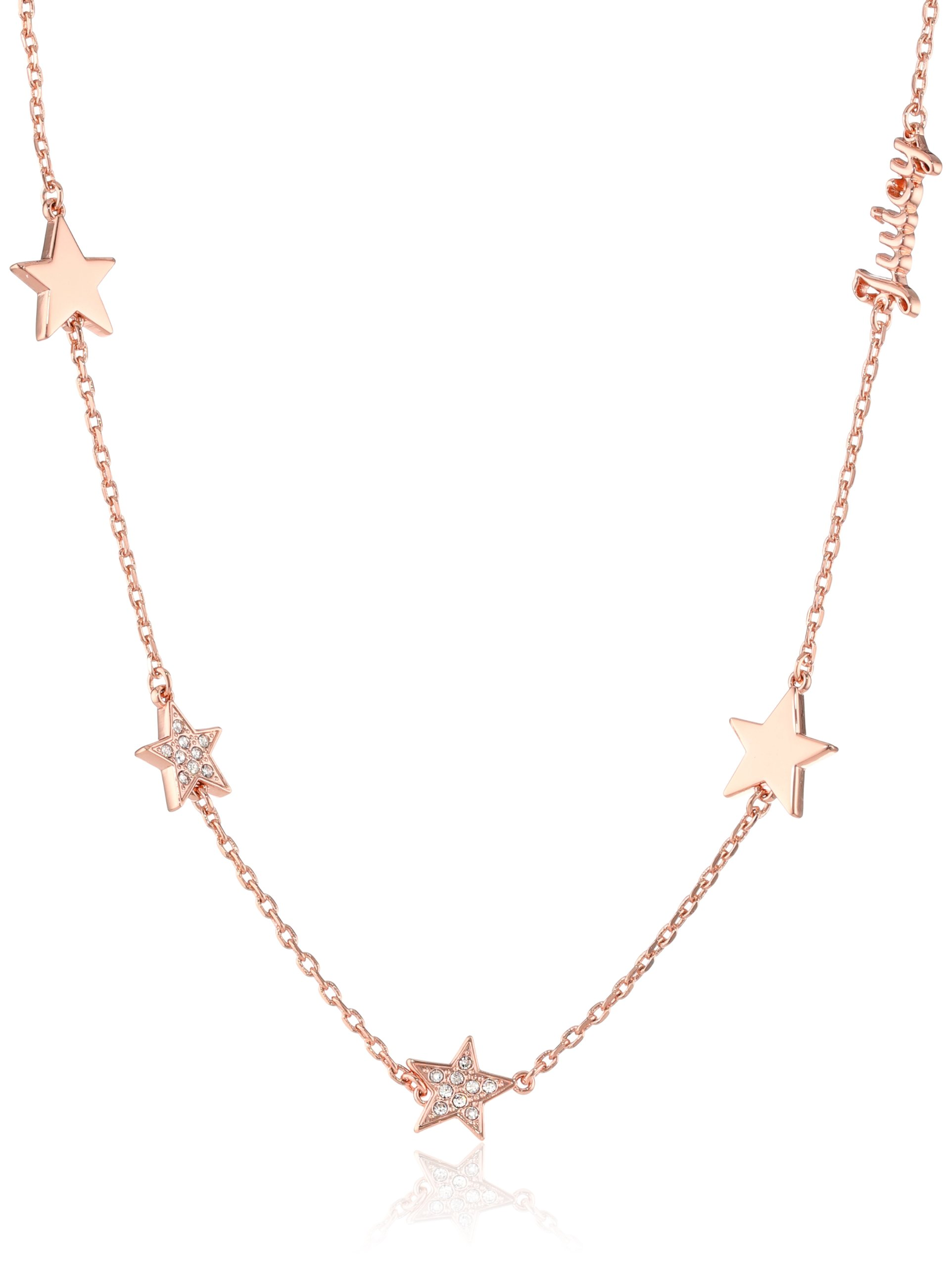 Juicy Couture Rose Gold Pave Star Strand Necklace, 32''