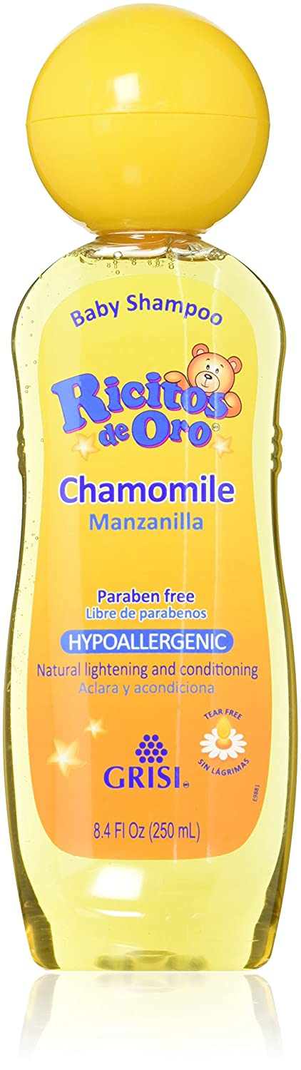 Set of 3 Ricitos de Oro Baby Shampoo Chamomile Hypoallergenic Tear Free Shampoo Grisi 53512