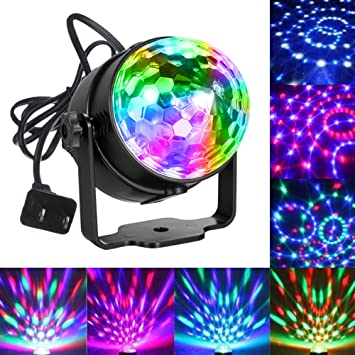 Party Lights Disco Ball Sound Activated Party Light Blingco LED Stage Strobe DJ Lights Effect  sc 1 st  Amazon.com : sound activated lighting - azcodes.com