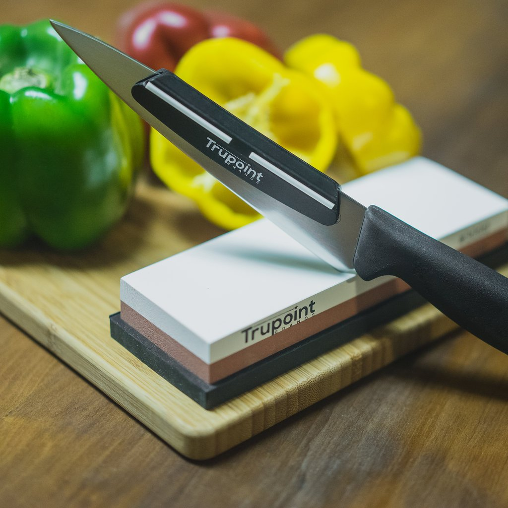 amazon com trupoint chefs knife sharpening stone and angle guide