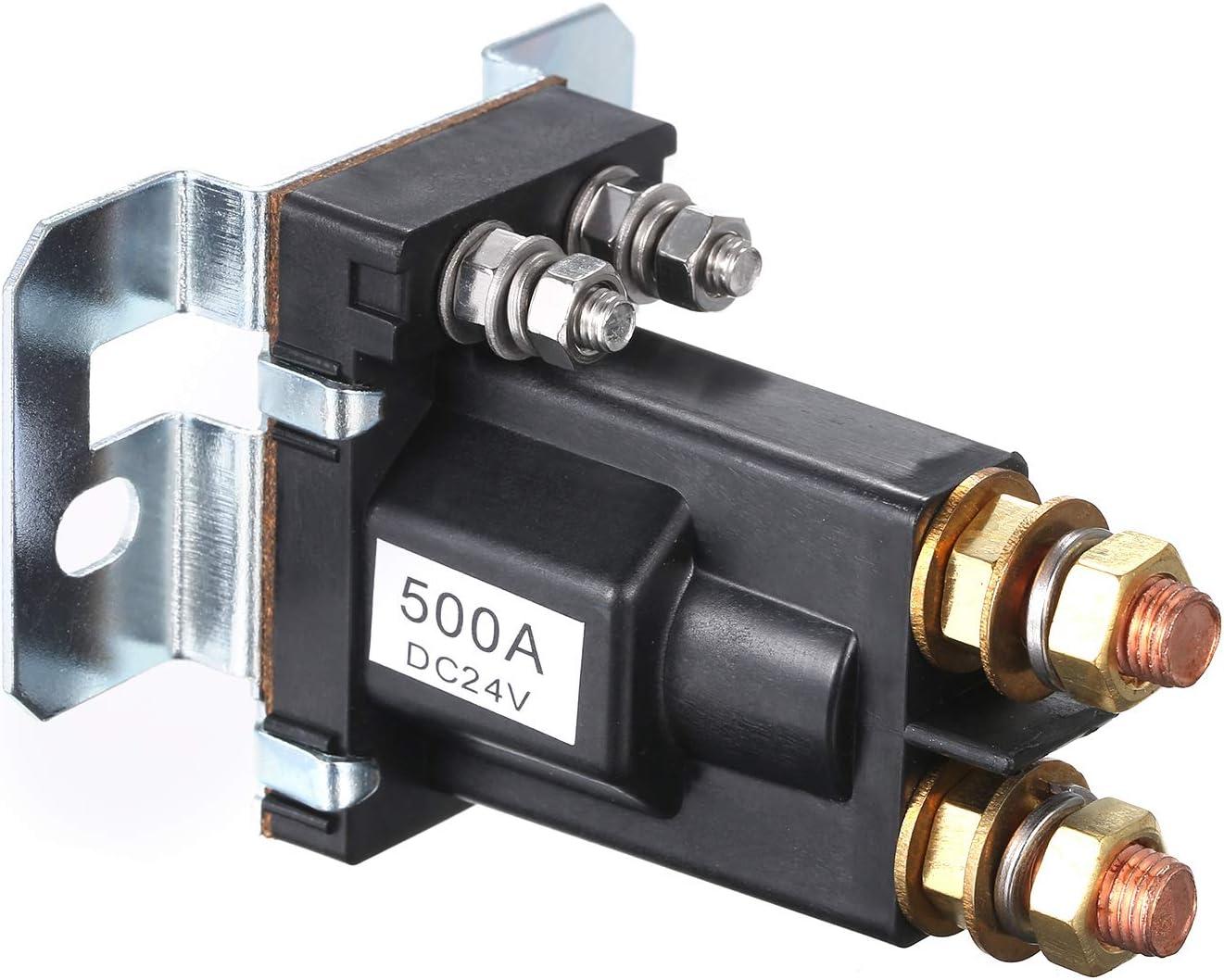 DC Relay,Baugger Port/átil 24V 500A Gran Corriente DC Rel/é Aislador de Doble Celda Carretilla Elevadora Motor Contactor