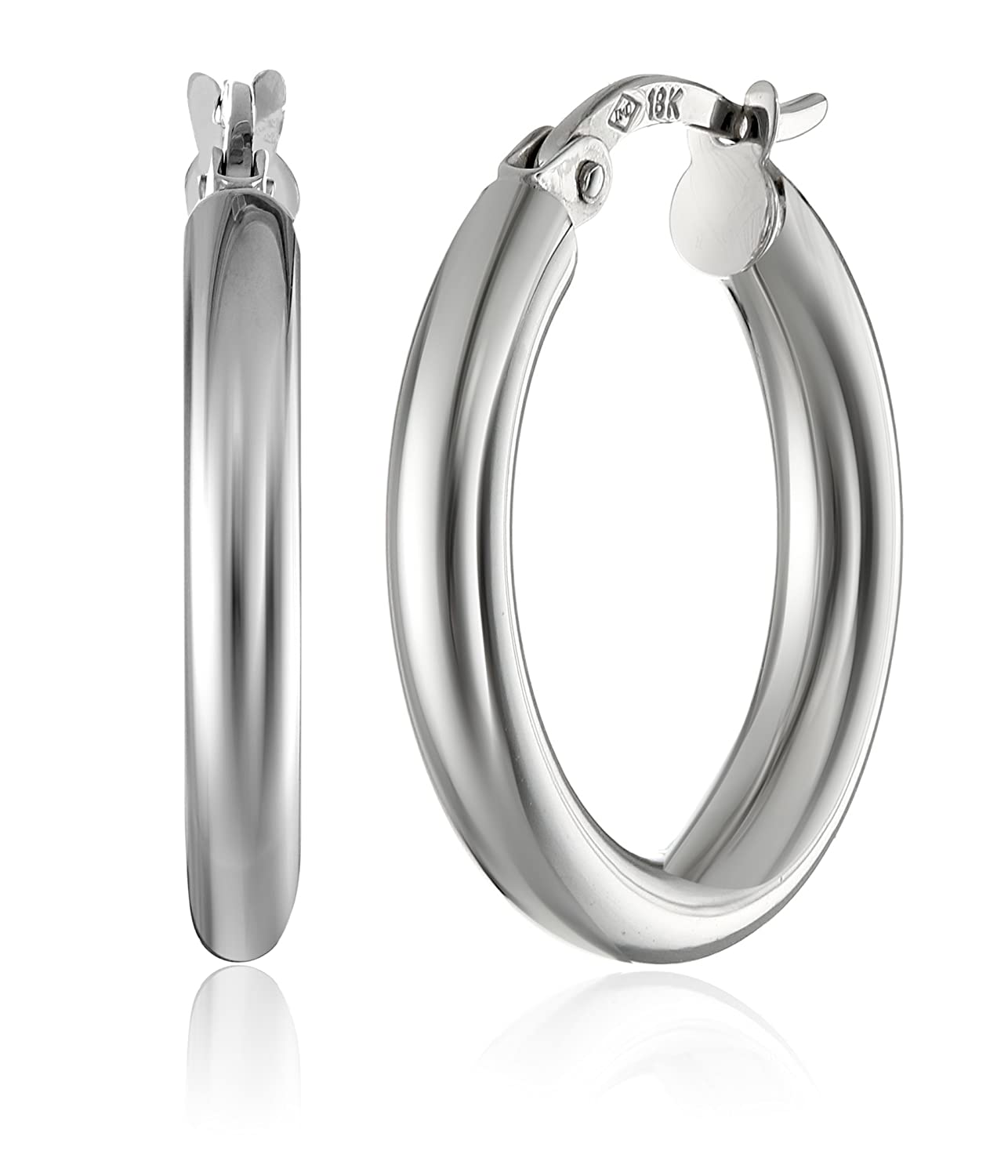 gold jewelry santa scalare coin outside hoop tapered white products diamond earrings large inside roberto fe