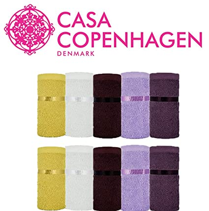 40e849d329 Casa Copenhagen Eternal 450 GSM Premium Egyptian Cotton 10 Pcs Face Towel  Set - 2 Face