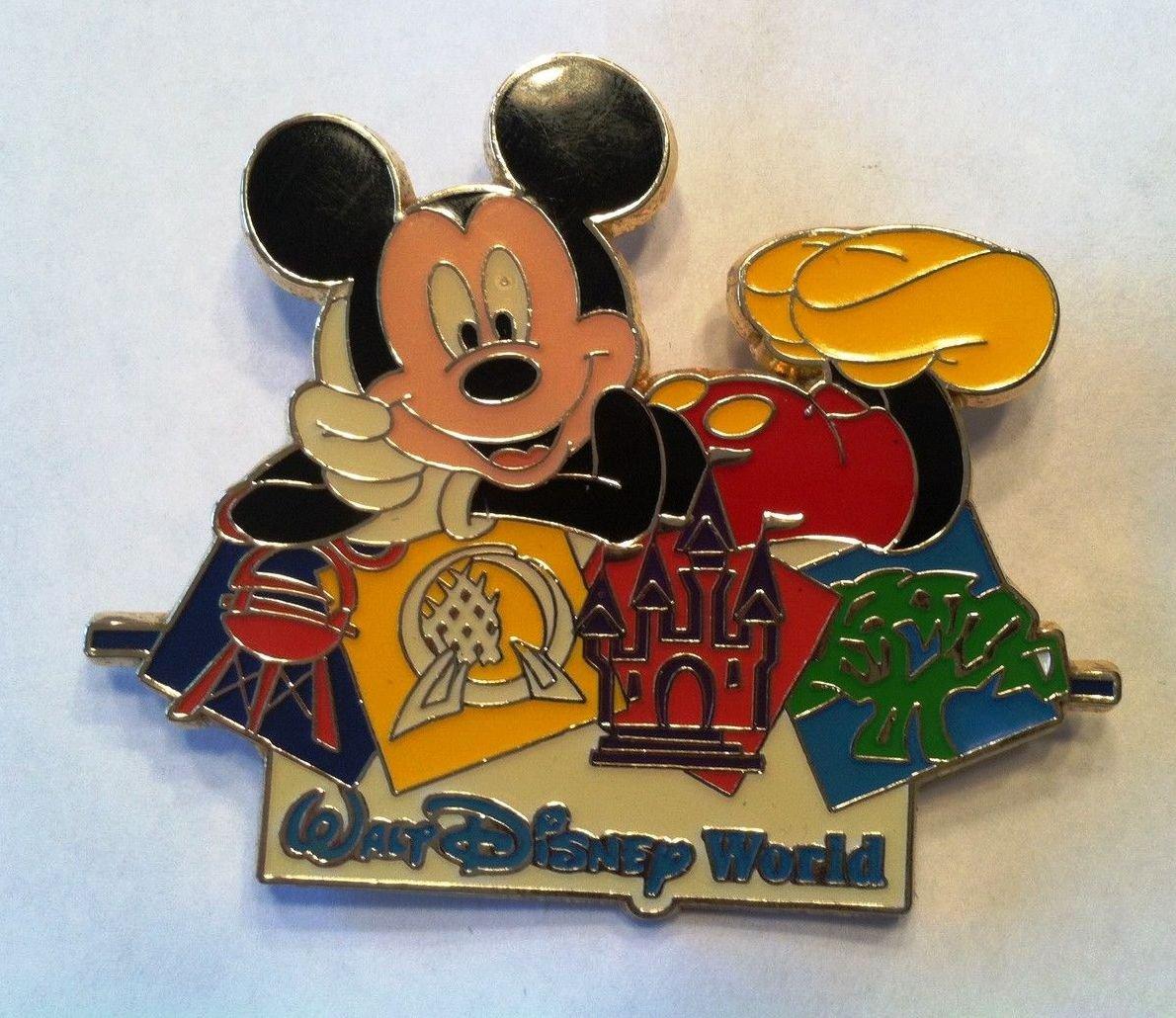Disney Hard to Find Pin Jumbo Mickey Mouse Walt World Theme Park Icons