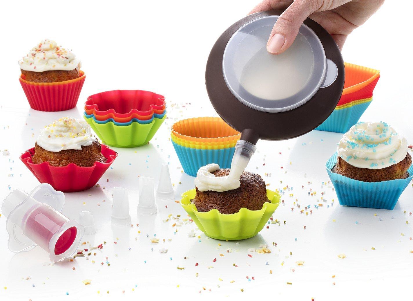 Amazon.com: Kid Baking Set 24 Baking Muffin Molds Silicone Cupcake ...