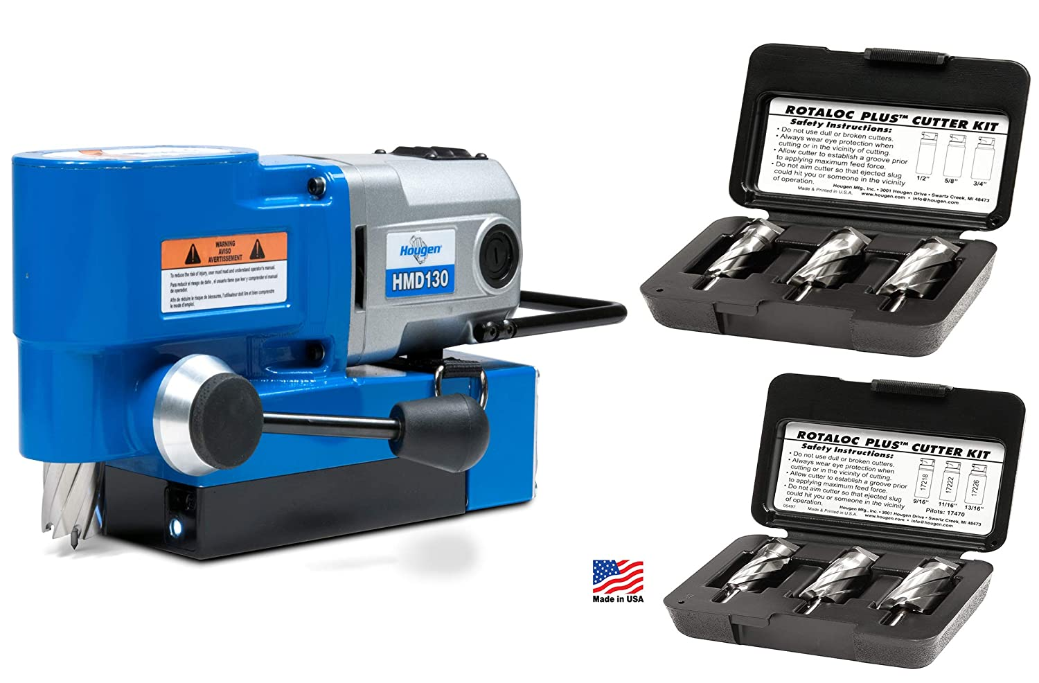 Hougen HMD130 Fabricator's Kit - Ultra Low Profile lightweight right angle drill with large capacity. Replaces HMD115 and HMD150
