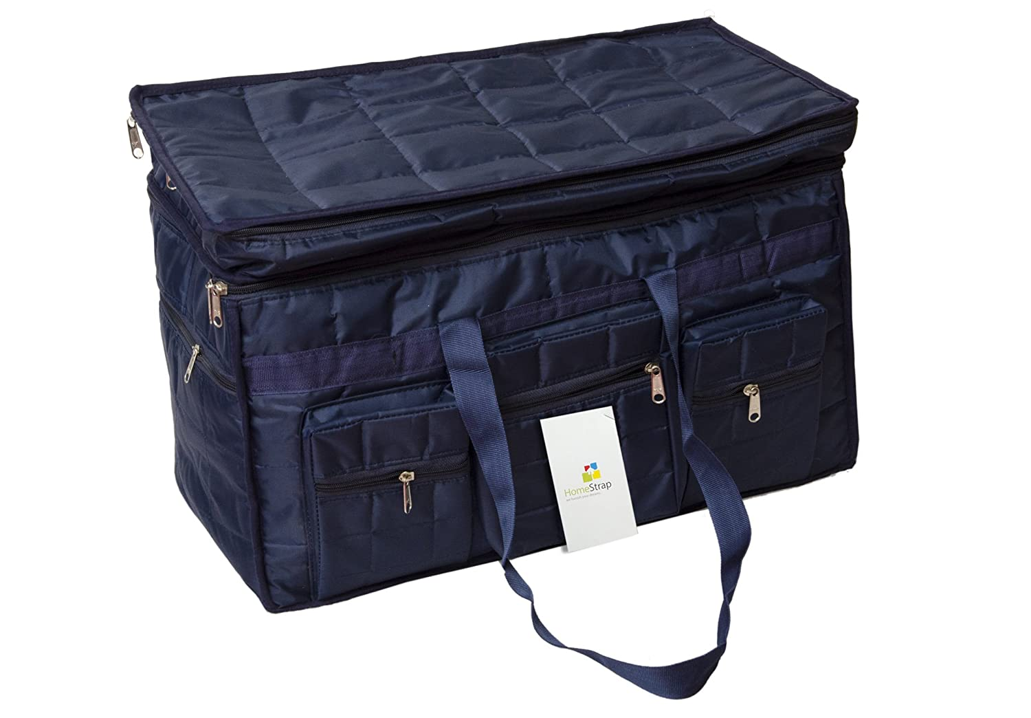 HomeStrap Nylon 29.01 cms Blue Travel Duffle (HSHSHSLUTRVLD