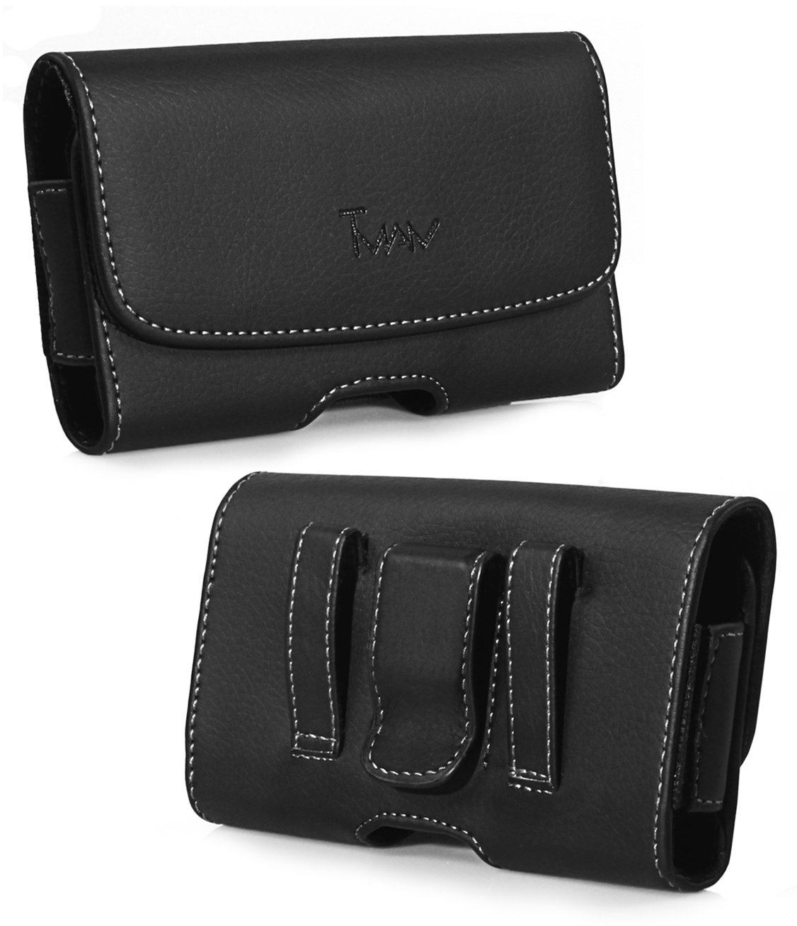 for lg GU295 KM555 Revere 3 VN170 511C KP260 505C Premium Leather Pouch Case Holster with Belt Clip & Belt Loops