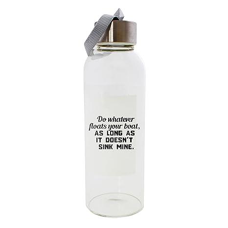 Hacer cualquier flotadores tu barco, mientras que no fregadero minas 420 ml botella de cristal