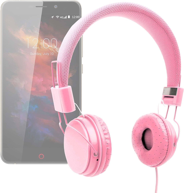 DURAGADGET Auriculares De Diadema Color Rosa para Smartphone Umidigi UMI MAX Combinar con Su Móvil!: Amazon.es: Electrónica