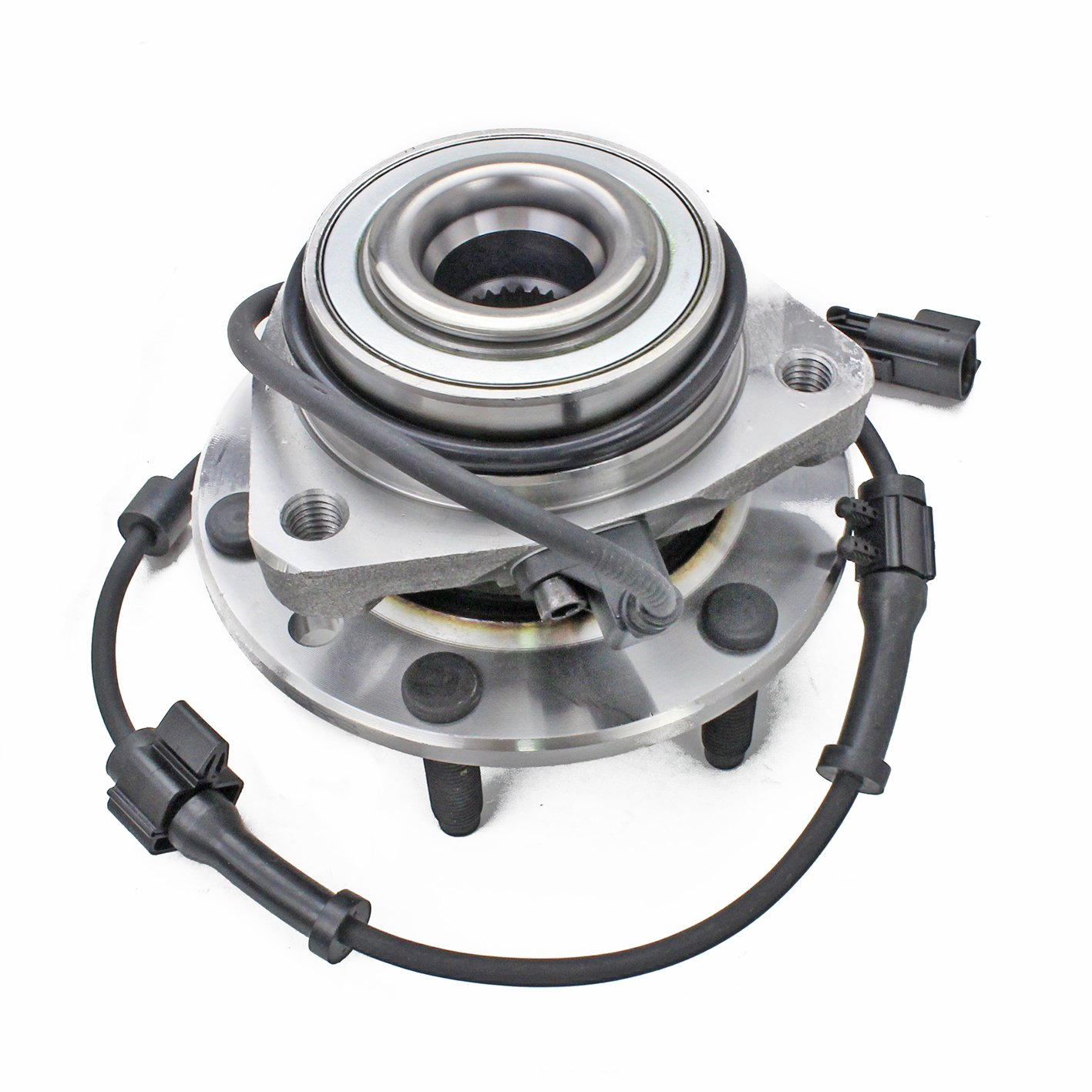 513188 Wheel Bearing Hub Assembly, Front Left/Right, for 02-09 Chevy Trailblazer (EXT)/ 02-07 SSR, GMC Envoy (XL) Denali/XUV, 03-08 Isuzu Ascender, 04-07 Buick Rainier, 02-04 ldsmobile Bravada CRS