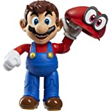 "World of Nintendo 4"" Mario Odyssey Action Figure with Hat Action Figure"