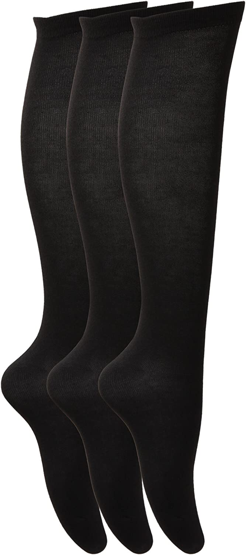 Soho Baby Ltd 3 paia di calzini alti al ginocchio in cotone di alta qualit/à da donna ricca in cotone da donna