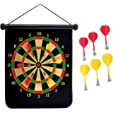MANSHU 15 inches Magnetic Dart Board Double Sided Hanging Dart Board Set and Bullseye Game!