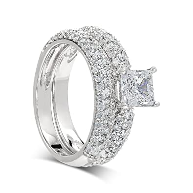 925 Sterling Silver UK Hallmarked 1ct Lab Diamond White Gold Plated Solitaire Wedding Engagement Ladies Ring XAMNecFfEx