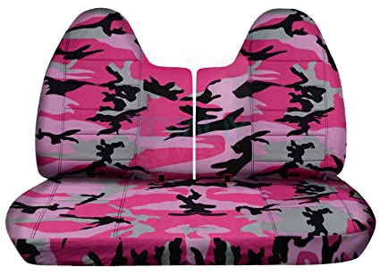 Fine 1992 1997 Ford F 150 F 250 F 350 Camo Truck Seat Covers Front 50 50 Split Bench W Wo Separate Headrest Covers Pink Camouflage 16 Prints 1993 1994 Machost Co Dining Chair Design Ideas Machostcouk