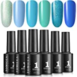 TOMICCA Soak Off UV LED Gel Nail Polish Set, One Step Gel Polish, 5ml per Bottle, 6 Colour 5016
