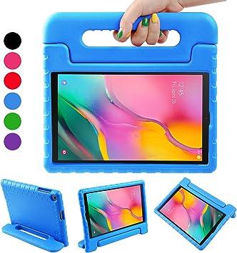 BelleStyle Funda para Samsung Galaxy Tab A 10.1 2019, A Prueba de Choques Ligero Estuche Protector Manija Caso Forró con Soporte para Niños para Galaxy Tab A 10.1 Pulgadas T515/T510 2019 (Azul):