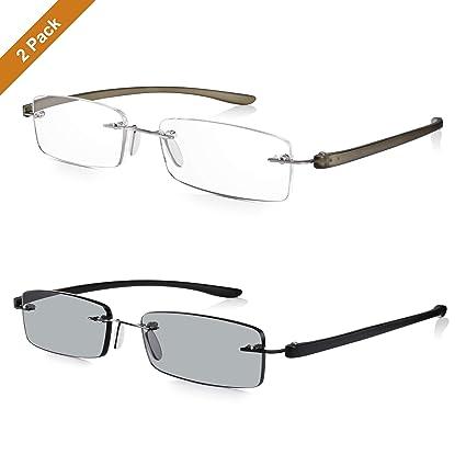 Read Optics X2 Pack: Gafas de Lectura & Gafas de Sol para Leer Graduadas desde +1.5 hasta +2.5 Dioptrías: Lentes con Protección UV-400 100% Rayguard™| ...