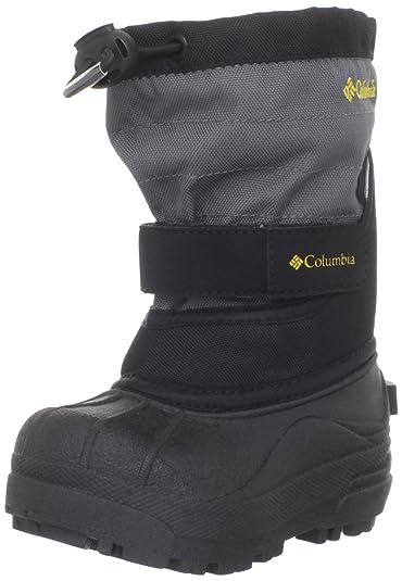 Columbia Toddler Powderbug Plus II Waterproof Winter Boot,Black/Intense  Gold,4 M